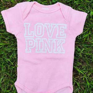 Love pink inspired onesie